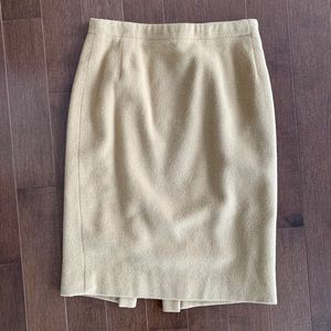 Vintage 100% Camelhair Beige Tan Pencil Skirt 4